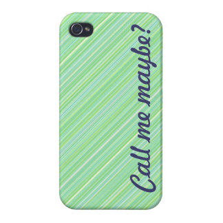 ¿Llámeme quizá? Caja azul/verde del iPhone 4 iPhone 4/4S Carcasas