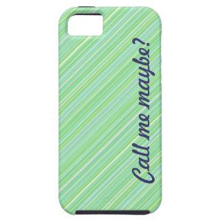 ¿Llámeme quizá? Caja azul/verde del iPhone 5 iPhone 5 Fundas