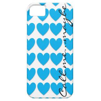 Llámeme quizá cubierta azul de Iphone 5 del Funda Para iPhone 5 Barely There