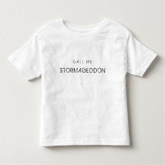 Llámeme Stormageddon Playera