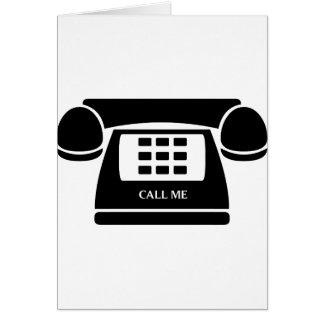 ¡Llámeme!  ¡Teléfono!  ¡Hablemos! Tarjetón