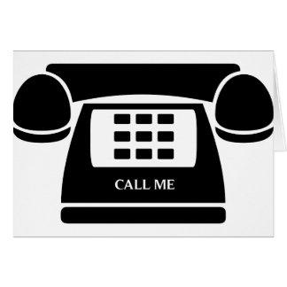 ¡Llámeme!  ¡Teléfono!  ¡Hablemos! Tarjeta De Felicitación