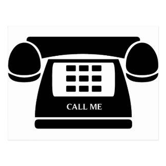 ¡Llámeme!  ¡Teléfono!  ¡Hablemos! Tarjetas Postales