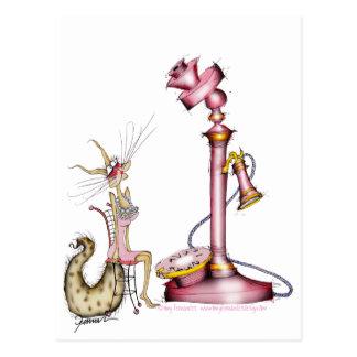 llámeme - un dibujo animado maravilloso del gato, tarjetas postales