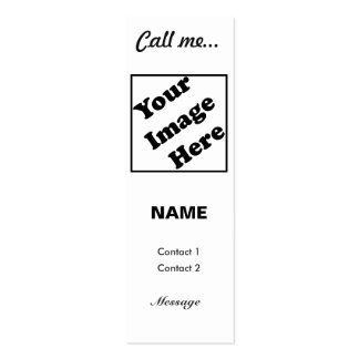Llámeme… (Vertical blanca) Tarjetas De Visita Mini