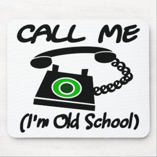 Llámeme, yo son escuela vieja con el teléfono retr tapete de ratones