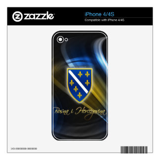 Llamo por teléfono 4s a la cubierta BOSNIA Skin Para El iPhone 4S