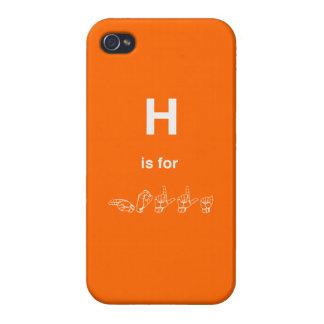 llamo por teléfono al caso 4 - H está para el HOLL iPhone 4 Funda