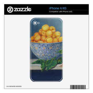 Llamo por teléfono al caso con los albaricoques y skin para el iPhone 4