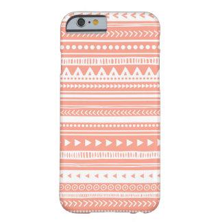 llamo por teléfono al coral tribal del modelo de 6 funda de iPhone 6 barely there