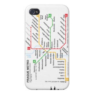 Llamo por teléfono al metro de Praga de 4 casos iPhone 4 Fundas