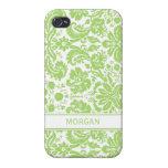 llamo por teléfono al modelo floral del damasco de iPhone 4 cobertura