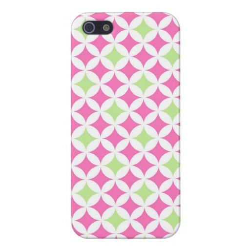 llamo por teléfono al modelo geométrico rosado de  iPhone 5 carcasas
