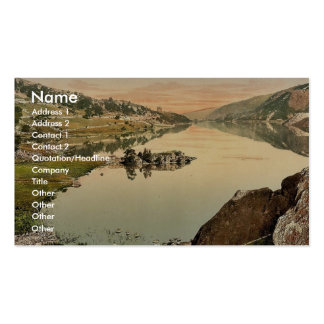 Llanberis and Lyn Peris, Wales rare Photochrom Double-Sided Standard Business Cards (Pack Of 100)