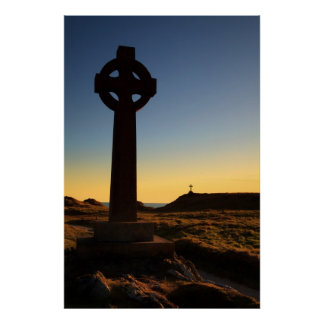 Llanddwyn Island Crosses, Anglesey, wales Poster