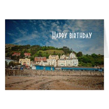 Llandudno Scenic Coastal beach view in Wales UK Card