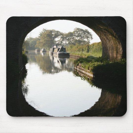 Llangollen Canal Boat through Bridge Mousepad