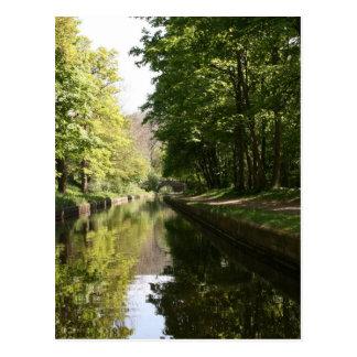 Llangollen Canal Boat through Bridge Postcard
