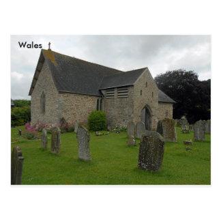 Llanigon Church - St. Eigon Church, Powys, Wales Postcard