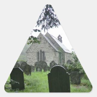 Llanmawddwy Parish Church (St Tydecho) Triangle Sticker