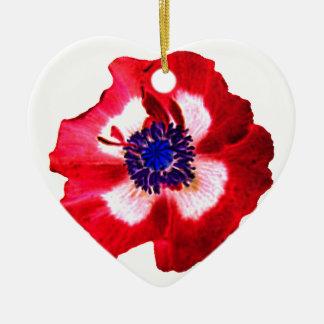 Llano azul blanco rojo del ornamento del corazón adorno para reyes