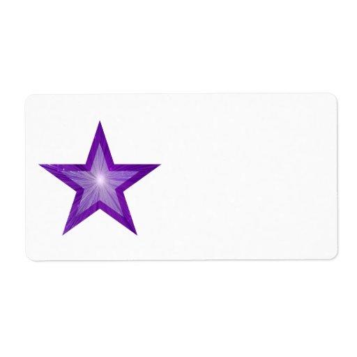 Llano blanco grande de la etiqueta púrpura de la e etiqueta de envío
