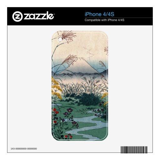 Llano de Hiroshige Otsuki Calcomanías Para El iPhone 4S