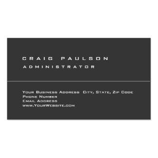 Llano elegante simple limpio gris exclusivo tarjetas de visita