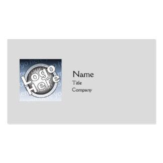 Llano gris - negocio tarjetas de visita