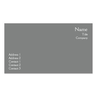 Llano gris oscuro - negocio tarjeta de negocio