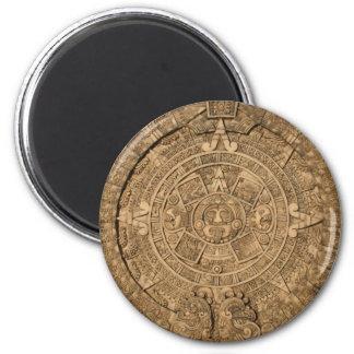 llano maya del calendario imán redondo 5 cm