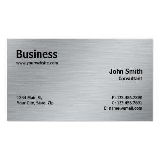 Llano moderno del metal elegante profesional de tarjetas de visita