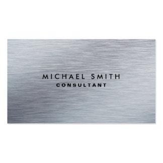 Llano moderno del metal plateado elegante tarjetas de visita