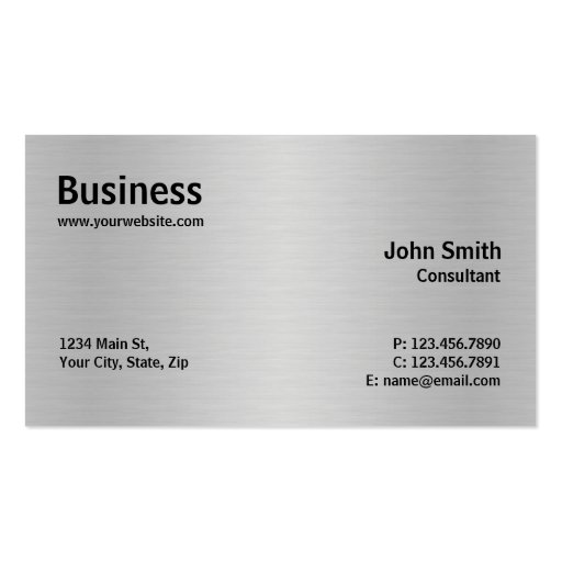 Llano moderno elegante del metal profesional de pl tarjeta de visita