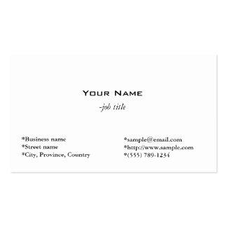 llano, simple tarjeta de negocio