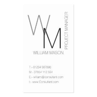 Llano y tarjeta de visita profesional blanca simpl