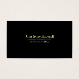 Llano y tarjeta de visita simple del negro y del