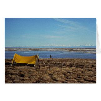 Llanos costeros que acampan tarjeta de felicitación