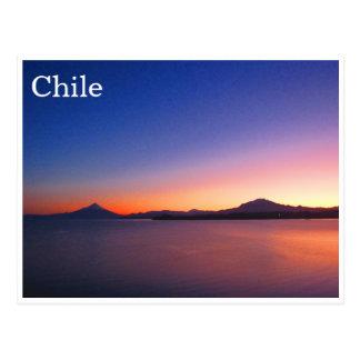 llanquihue sunrise postcard