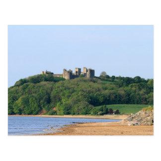 Llansteffan Castle and Beach Postcards