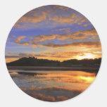 Llanstephan Sunset Classic Round Sticker
