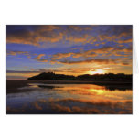 Llanstephan Sunset Greeting Card