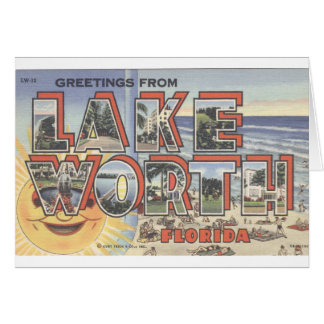 lLarge Letter Note Card_Greetings from LAKE WORTH Card
