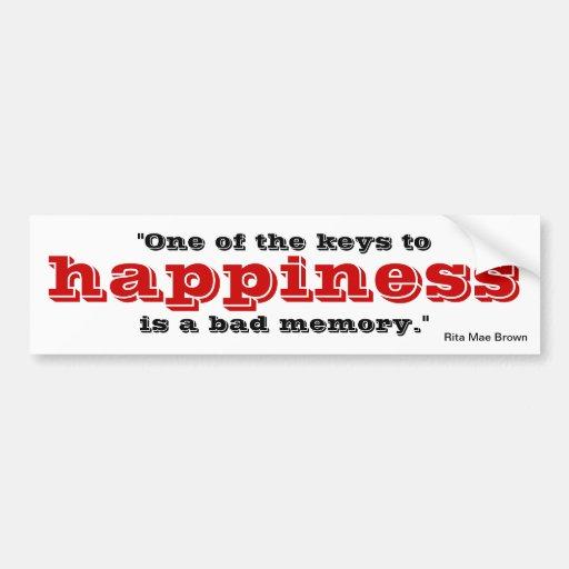 Llave a la felicidad pegatina para auto