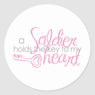 Llave a mi corazón pegatina redonda