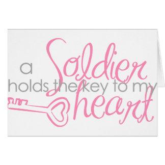 Llave a mi corazón tarjeta de felicitación