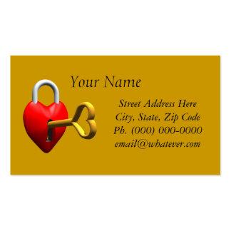 Llave a mi corazón tarjetas de visita