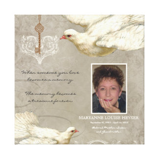 Llave a mi monumento de la pérdida de la paloma impresión en lienzo