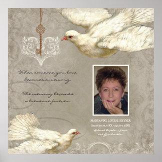 Llave a mi monumento de la pérdida de la paloma póster