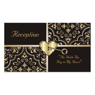 Llave a mis tarjetas de la recepción del corazón tarjetas de visita